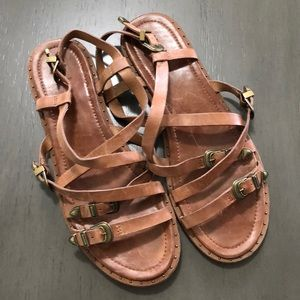 FRYE LEATHER SANDALS SIZE 9.5
